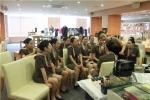 한국관광대학교 항공서비스과가 항공체험교실에 참가했다