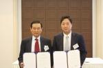 한국유빅 조용민대표(우)는 포렌식 정보분석기법을 통한 내부감사 품질 혁신을 지원하기 위해 한국감사협회 변중석회장(좌)과 MOU를 체결했다