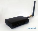 커넥티드에잇이 개발한 스마트 비콘 제품. 이 제품은 블루투스 4.0 환경에서 뿐만 아니라 와이파이 망에서도 사용 가능하다.