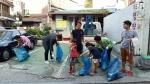 사과나무해피라이트 하늘봉사단이 관악구 고시촌 지역 길거리 환경미화를 했다
