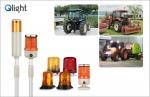 큐라이트가 새롭게 출시한 농업기계 저속차량용 경광등