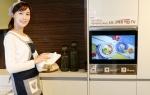 LG전자가 종합 홈 인테리어 전문기업 한샘과 손잡고 빌트인 '스마트 키친 TV'를 이달 출시한다 (사진제공: LG전자)