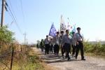통일기원나라사랑대행진_임진강변 철책길을따라 도보행진