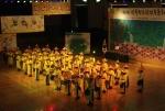 전국 청소년 전통문화 경연대회 최우수상을 수상한 함덕고등학교 백파취타대 공연모습