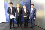 왼쪽부터 한만기 디지파이코리아 대표, 류지 이와타 ORAC 社 회장, 테루타카 카와바타 ORAC 社 대표이사, 키요시 니시지마 ORAC 社 이사