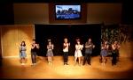 일산 거룩한 빛 광성교회에서 문화의 날 행사에 참여하여 뮤지컬 공연을 하고 있는 누리다문화학교 학생들