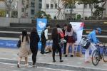 NGO 통일 좋아요가 23일 이문동 한국외국어대학교에서 통일 좋아요 캠페인을 실시하였다