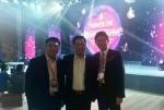 왼쪽부터 쑨쩐쿤 하이타오 글로벌 총경리 샤오샤오펑 알리바바 그룹 부총재 겸 알리픽쳐스 회장 오세광 한양하이타오 대표이사