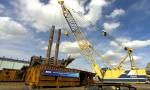대우조선해양이 10월부터 실시한 쇄빙 LNG선 충격시험(Impact Test) 모습