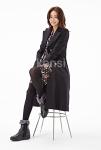 켄지 전속모델 신은경 블랙색상 퍼부츠 착화 모습