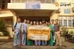 2015년 미얀마에서 수술사업을 진행한 인지클럽 회원들. 2015년 인지클럽은 베트남, 라오스, 미얀마에서 150여 명의 선천성안면기형 아동들의 미소를 되찾아주고 돌아왔다
