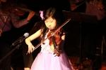 소원별음악회에서 직접 바이올린 연주를 선보인 유소원 양