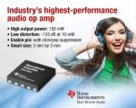 TI, 업계 최고 성능의 오디오 연산 증폭기 출시