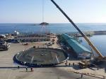 강원도 고성 연어 양식장에 설치된 황동어망 (사진제공: 국제구리협회)