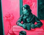 Thinking, 2015, 캔버스에 아크릴, 65x80cm (사진제공: 더마이스)