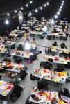 13일 오후  건국대에서 열린 2016 건국대 예술디자인대학 정시모집 실기고사에서 학생들이 작품을 완성하고 있다 (사진제공: 건국대학교)