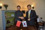 좌측은 킹소프트 CEO Ge Ke(꺼커), 우측은 시스트란 인터내셔널 회장 루카스 지