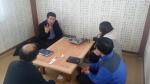 한국사회복지연합모금회  희망드림이 회의하는 모습이다 (사진제공: 가나특수교육원)