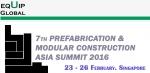 프리패브 및 모듈 공법 아시아 서밋 2016이 개최된다