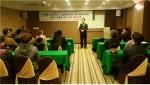 동명대 산업체 재직자교육에서 참여 임직원들에게 인사말을 하는 신동석 LINC 사업단장