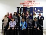 세종사이버대학교 외식창업프랜차이즈학과 이희열 교수(앞줄 왼쪽 첫 번째)와 말레이시아 이슬람 과학 대학교 관계자들이 기념촬영을 하고 있다
