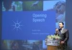 한국 애질런트 새로운 사무실 이전 행사에서 설명하고 있는 오스틴 김 대표 이사 (사진제공: 한국애질런트테크놀로지스)