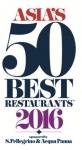 산펠레그리노와 아쿠아파나가 후원하는 2016 아시아 베스트 레스토랑 50