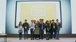 25일 열린 케미스터디 론칭 미디어 행사에서 서울대 학생들과 에이스탁 임직원들이 기념촬영을 하고있다 왼쪽에서 6번째가 에이스탁 장효빈 대표이다