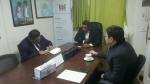 가운데 필리모네 카우 주한 피지 대사, 오른쪽 W-재단 이욱 이사장 긴급구호 회의