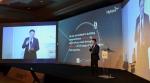 카이하이 하이테라 부사장이 21일 2016 국제무선통신기기 박람회에서 열린 2016 하이테라 월드와이드 360도 세미나'에서 자사의 360도 캠페인을 발표하고 있다