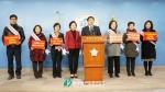 1월 13일 국회 정론관에서 개최된 한국어린이집총연합회 긴급 기자회견에서 보육대란을 막기 위한 즉각적인 누리과정 예산편성을 촉구하고 있다