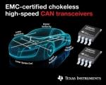 TI가 오토모티브 업계에서 가장 우수한 EMC 성능을 제공하는 초크리스 고속 CAN 트랜시버 제품군을 출시했다