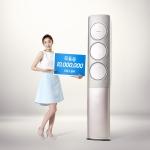 삼성전자 모델 김연아가 18일 공개 19일만에 누적 조회수 1000만뷰를 돌파하며 네티즌들    사이에서 큰 화제가 되고 있는 '김연아 무풍쏭'을 소개하고 있다