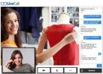 스핀쉘의 영상 채팅을 이용한 Web 기반의 대면 웹 접객(Online Face to face engagement) 서비스 'LiveCall(라이브콜)' 화면