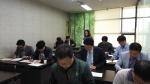 제5회 기업 R&D 지도사 자격검정시험 1차 필기시험을 진행하고 있는 모습이다