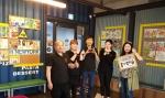 홍선생미술 평택지사가 스테이크팩토리 평택점과 콜라보전시를 열었다