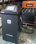 대용량 복원기 RPT-S500으로 전동지게차 배터리를 복원하는 모습