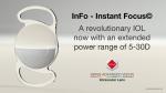 InFo - Instant Focus© - 시력보정 범위가 5~30D로 확대된 혁신적인 인공수정체 (© 2016 SAV-IOL SA)
