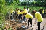 박신혜와 함께하는 마몽드 무궁화 숲 조성에 참여한 시민들 모습이다