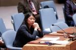 유엔 안보리 회의에 참석한 조앤 리우 국경없는의사회 국제 회장