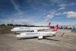 터키항공에 인도되는 보잉 항공기