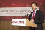 CPA GLOBAL의 새로운 CI를 발표 중인 마르코스 안투네스(Marcos Antunes) CPA GLOBAL 아태지역 본부장.