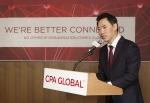 CPA GLOBAL의 새로운 CI 발표 및 국내 IP 현황에 대해 발표하는 안성식 CPA GLOBAL 한국지사 대표