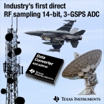 TI, 업계 최초의 14bit, 3GSPS RF 샘플링 아날로그-디지털 컨버터 출시