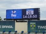 경기장의 파나소닉 LED 비디오 스크린