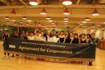 지니재즈댄스와 뉴욕페리댄스의 협약식. 뉴욕페리댄스는 세계적으로 유명한 미국브로드웨이뮤지컬 인재 양성의 산실이다. 유일하게 F1 가 발급되는 교육기관으로 지니재즈댄스와 공동커리큘럼, 공동과정을 진행하기로 했다.