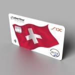 오버츄어 테크놀로지스 WISE 솔루션, 스위스 직불 카드에 탑재