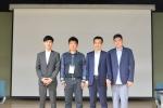 한국 웹툰의 중국 진출을 위한 전략적 업무합작 MOU 체결 사진. (왼쪽부터) 진코믹스 진기민 대표, IIE STAR그룹 제임스창 회장, K STONE 왕홍쥔 대표, 디콘E&M 이형근 대표.