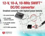 TI가 50A/cm3 이상의 전류 밀도를 제공하는 업계 최초의 12V, 10A, 10MHz 직렬 커패시터 벅 컨버터 IC를 출시한다