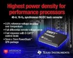 TI가 정확한 차동 원격 전압을 감지할 수 있는 업계 최초의 40A, 16V 입력 전압 동기식 스텝다운 DC/DC 컨버터를 출시한다